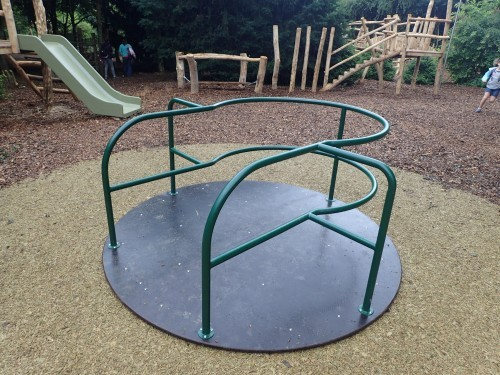 Accessible Roundabout Fountains Abbey And Studley Foyal Extensive Rustic Outdoor Woodland Play Area By Flights Of Fantasy