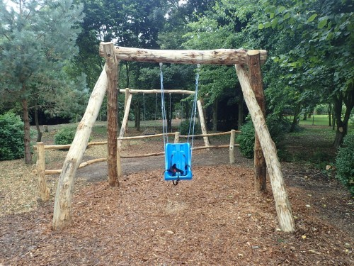 Accessible Swing Fountains Abbey And Studley Foyal Extensive Rustic Outdoor Woodland Play Area By Flights Of Fantasy
