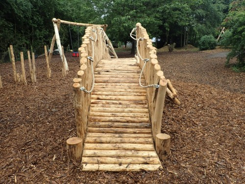 Arch Bridge Fountains Abbey And Studley Foyal Extensive Rustic Outdoor Woodland Play Area By Flights Of Fantasy