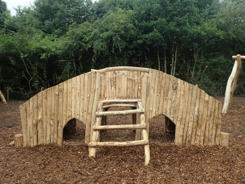 Arch Bridge Ladder Fountains Abbey And Studley Foyal Extensive Rustic Outdoor Woodland Play Area By Flights Of Fantasy