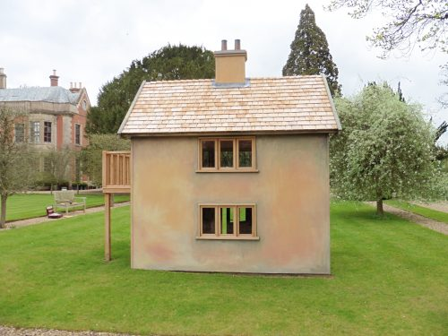 Back Moat Playhouse Childrens Wooden Bespoke Wendy House With Bay Window