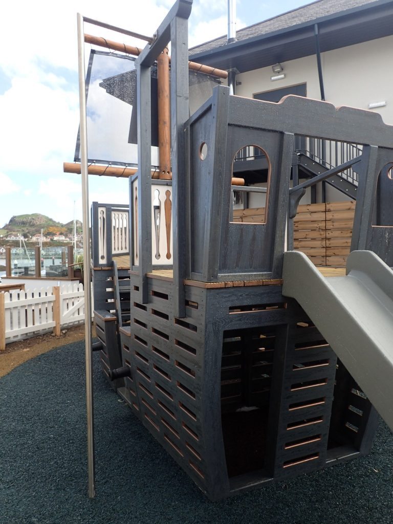Back The Mulberry Wooden Pirate Ship Play Area