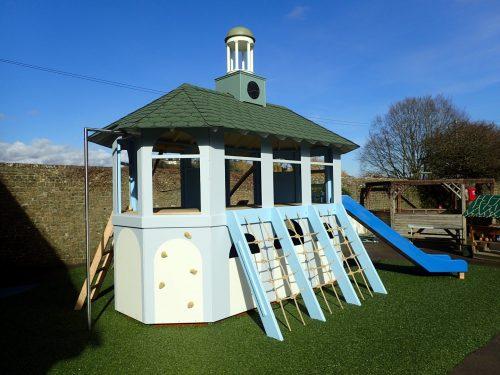 Back-View-Moss-Lane-School-Godalming-Pepperpot-Miniature-Replica-Play-Area