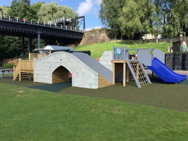 Back View of Bridge – Anderton Boatlift Adventure Playground
