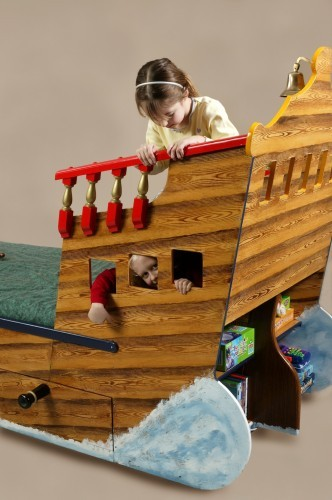 Back end play (Pirate ship bed wooden childrens beds bedroom furniture)