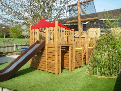 Back with slide (Highnam Under Fives pirate ship play area)