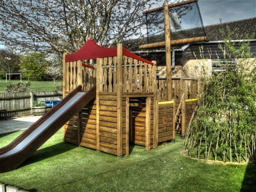Back With Slide Highnam Under Fives Pirate Ship Play Area