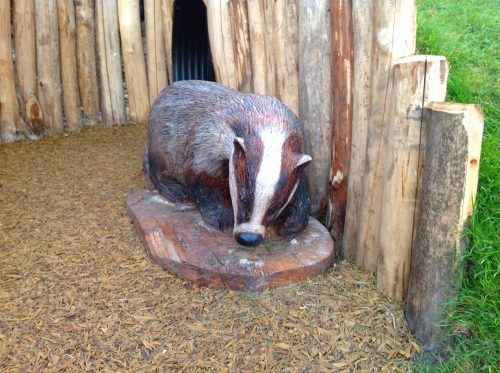 Badger Sculpture Wooden Carving By Flights Of Fantasy