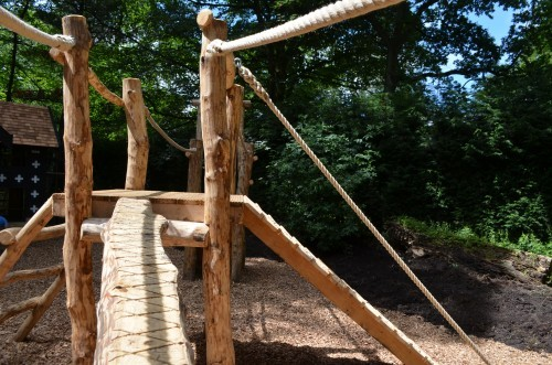 Balance Beam Samlesbury Hall Childrens Outdoor Play Area With Replica Landmark And The Mayflower Play Ship By Flights Of Fantasy