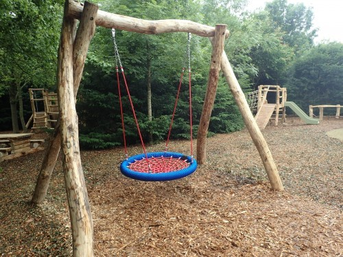 Basket Swing Fountains Abbey And Studley Foyal Extensive Rustic Outdoor Woodland Play Area By Flights Of Fantasy
