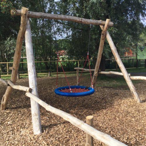 Basket Swing Knockhatch Fort Chestnut Wood Adventure Play Area Square