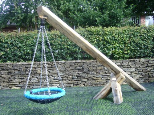 Basket swing (Croft Castle children's outdoor play area and wooden castle)