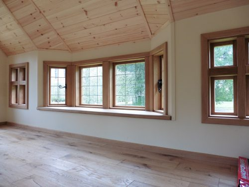 Bay Window Interior – Moat Playhouse Children's Wooden Bespoke Wendy House With Bay Window