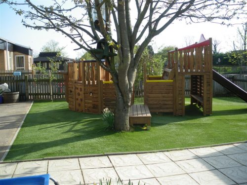 Behind Tree Highnam Under Fives Pirate Ship Play Area