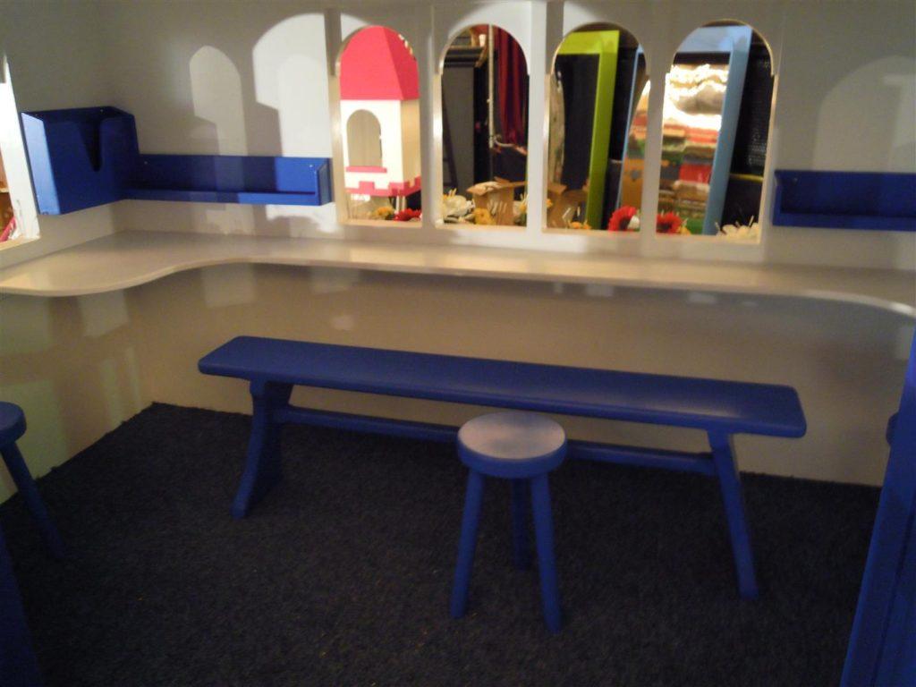 Bench Interior Zoopla Fantasy Castle Playhouse Indoor Play Area Exhibition Stand