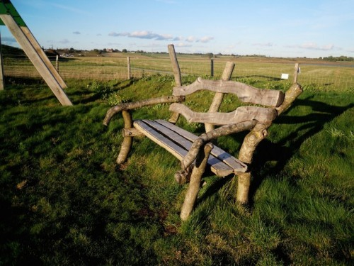 Bench By Play Area Rustic Wooden Seating And Benches By Flights Of Fantasy