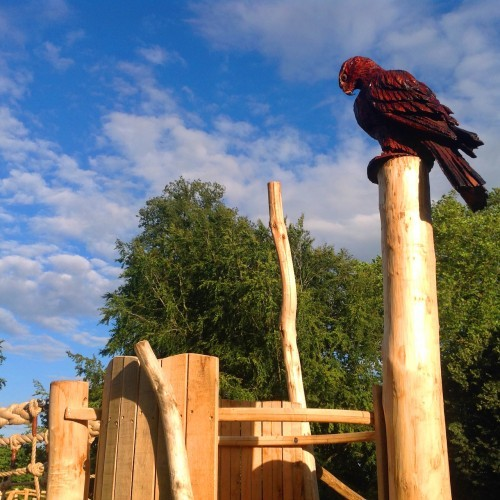 Bird Of Prey Carving Farnham Park Rustic Outdoor Play Area 01