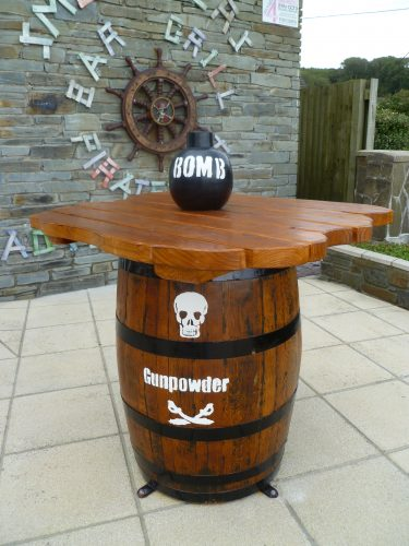 Bomb Table Smuggler Bar And Grill Amroth Pirate Themed Seating And Benches