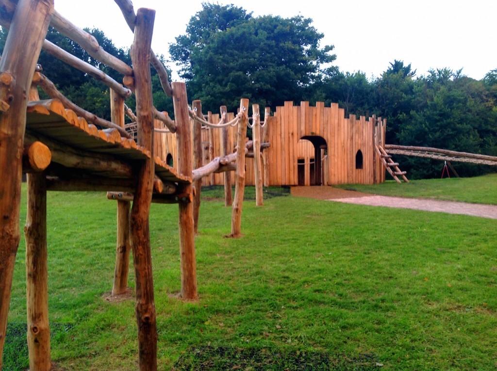 Bridge to Castle - Farnham Park Rustic Outdoor Play Area 19