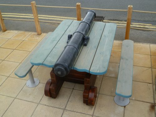 Canon Table Smuggler Bar And Grill Amroth Pirate Themed Seating And Benches