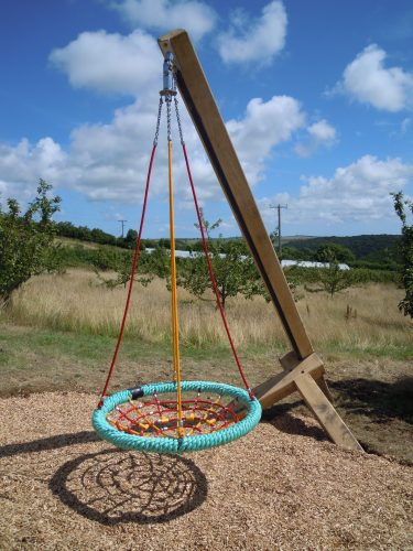 Cantilever Basket Swing