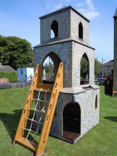 Cargo Net Barton Bendish Replica Church Childrens Multi Play Tower 1