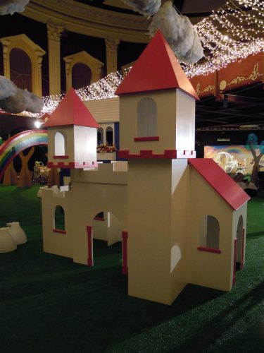 Castle Zoopla Fantasy Castle Playhouse Indoor Play Area Exhibition Stand