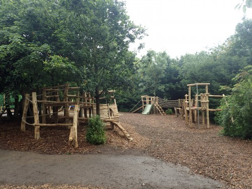 Central Structure Fountains Abbey And Studley Foyal Extensive Rustic Outdoor Woodland Play Area By Flights Of Fantasy