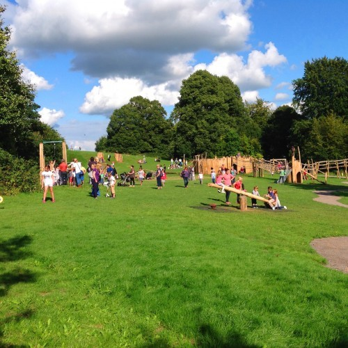 Children Enjoying The Sunshine Farnham Park Rustic Outdoor Play Area 03