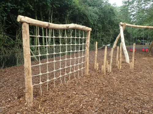 Climb Net And Step Logs Fountains Abbey And Studley Foyal Extensive Rustic Outdoor Woodland Play Area By Flights Of Fantasy