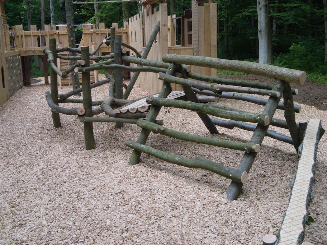 Climbing Area Wallington Fort Outdoor Play Area
