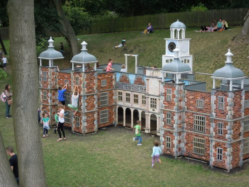 Climbing Hatfield House Childrens Outdoor Wooden Play Area Full Of Kids By Flights Of Fantasy