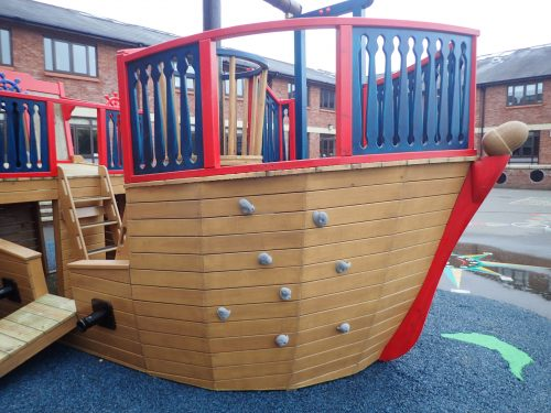 Climbing Wall The Grange School Pirate Ship Play Area