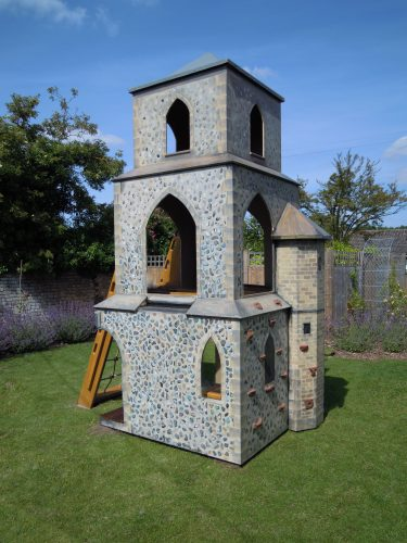 Climbing Wall Barton Bendish Replica Church Childrens Multi Play Tower 1