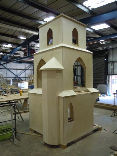 Construction Barton Bendish Church Play Area Miniature Replica