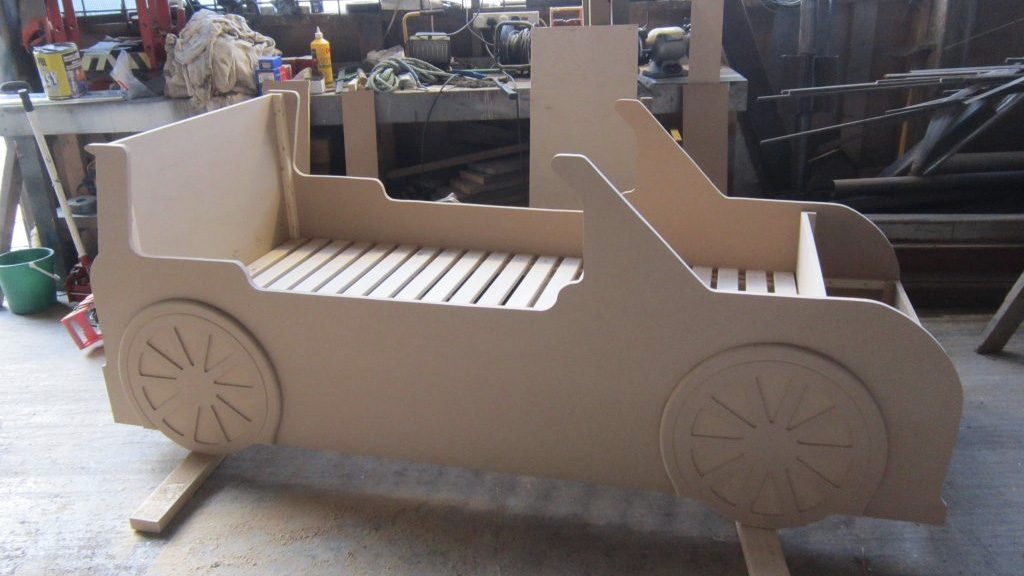 Construction Mini Cooper Bed Car Themed Red