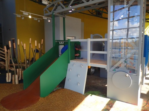 Crane Being Painted Whisby Natural World Indoor Play Area Natural Themed With Wall Mural