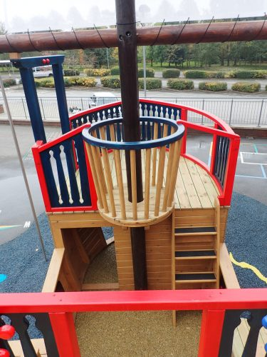 Crows Nest And Interior The Grange School Pirate Ship Play Area E1483978888514