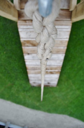 Rope Climb Play Apparatus Closeup