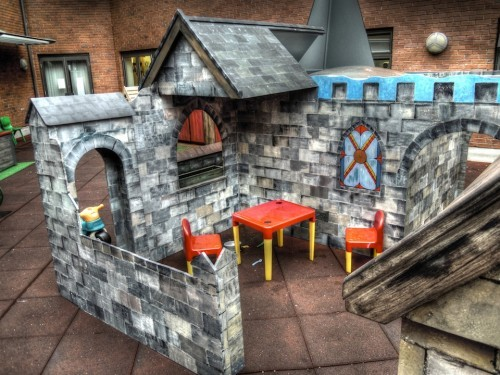 Dining Area Gloucestershire Royal Hospital Childrens Wooden Play Area Rooftop
