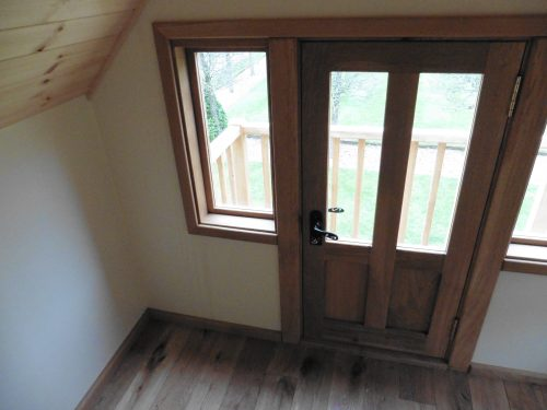 Door Detail Moat Playhouse Childrens Wooden Bespoke Wendy House With Bay Window