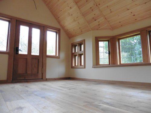 Door and Window Interior – Moat Playhouse Children's Wooden Bespoke Wendy House With Bay Window