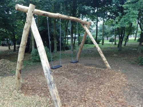 Double Swing Fountains Abbey And Studley Foyal Extensive Rustic Outdoor Woodland Play Area By Flights Of Fantasy
