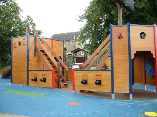 Entrance St. Johns School Pirate Ship Play Area 1