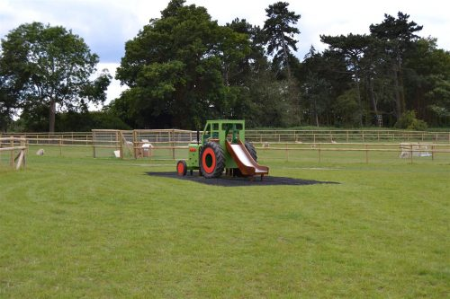 Field view (Hatfield farm children's play tractor with slide)