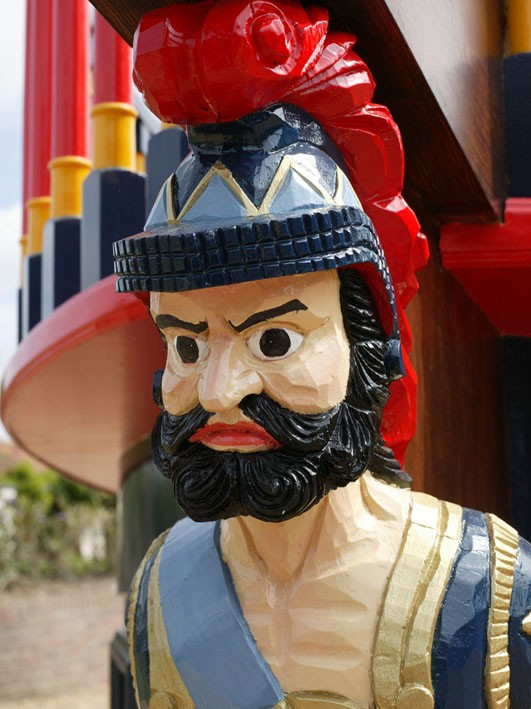 Figurehead Pirate Galleon Giant Wooden Play Pirate Ship For Children