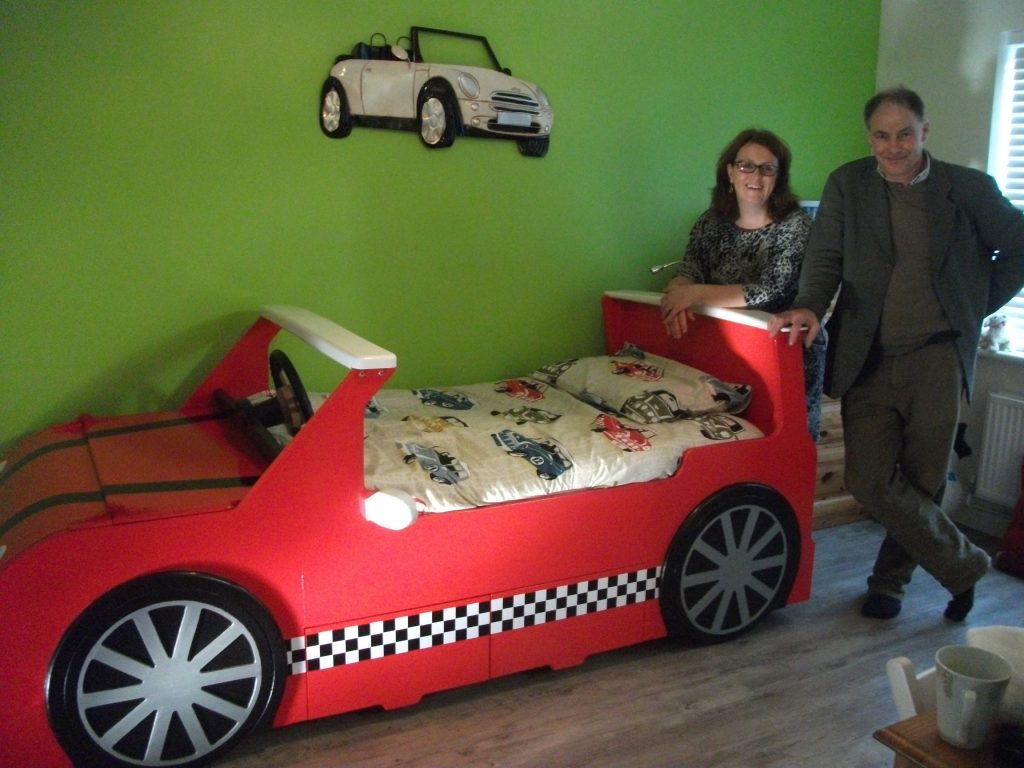 Finished Piece With Russell Mini Cooper Bed Car Themed Red