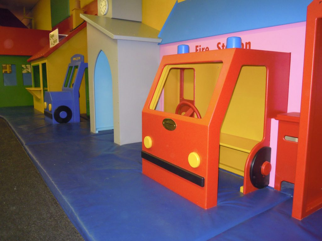 Fire Engine Cheeky Monkey Nursery Indoor Childrens Play Area 1