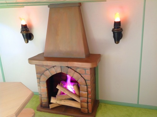 Fireplace and Fire Lanterns - Rapunzel's Dreamhouse Floral Fantasy - Magical Fantasy Themed Children's Playhouse Wendy House14