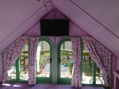 First Floor Interior Rapunzels Dreamhouse Floral Fantasy Magical Fantasy Themed Childrens Playhouse Wendy House11